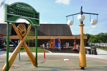 Baseball themed playground