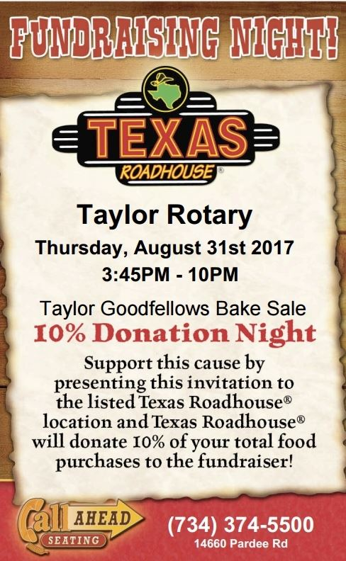 Goodfellows Fundraiser at Texas Roadhouse