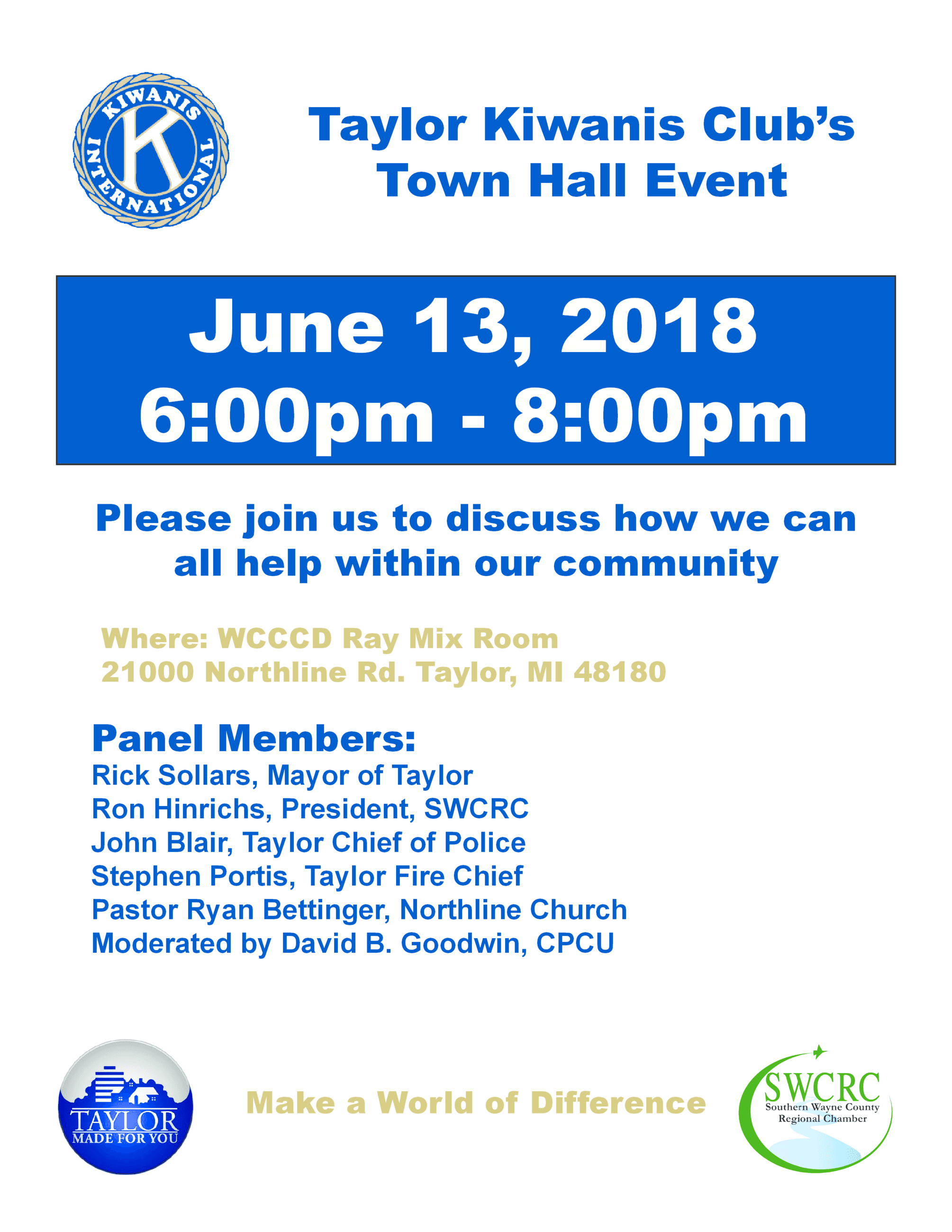 Kiwanis Town Hall Flyer