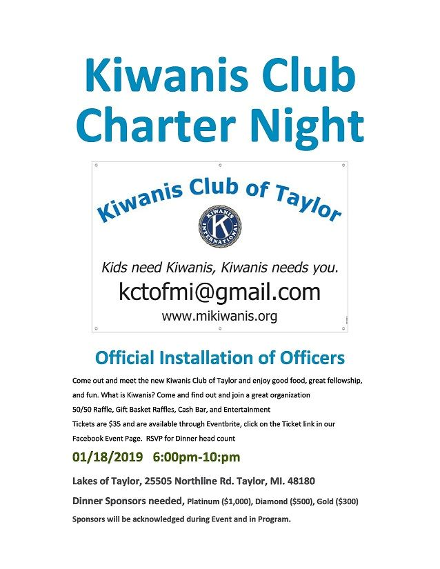 KIWANIS CHARTER NIGHT 1-18-2019
